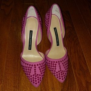 French connection new in box heels fuchsia
