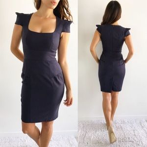 French Connection Navy Cap Sleeve Dress