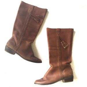 Vintage Kinney caramel leather calf boots