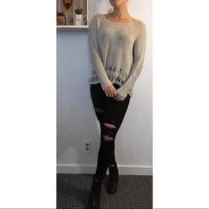 NEW Abercrombie & Fitch Open Knit Sweater