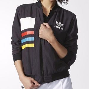 NWT The adidas AOP Track Top in Black