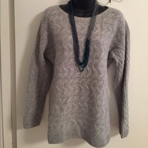 Talbots Gray Cable Crew Neck Sweater-NWOT