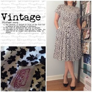 Vintage The Look 👀 1980's Dress black and White