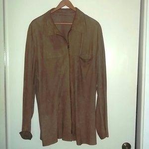 Barneys lightweight suede shirt jacket