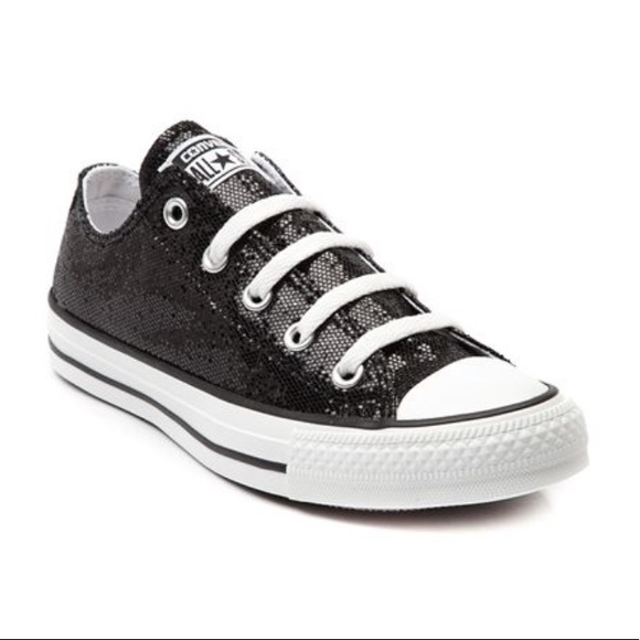 115f5ca598d9 Converse Shoes - Women s Black Sparkly Converse Chuck Taylor