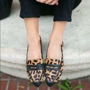 <Rebecca Minkoff> Harliss Loafer Leopard & Black