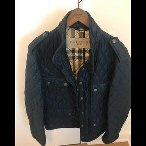 Mens burberry quilted jacket Navy