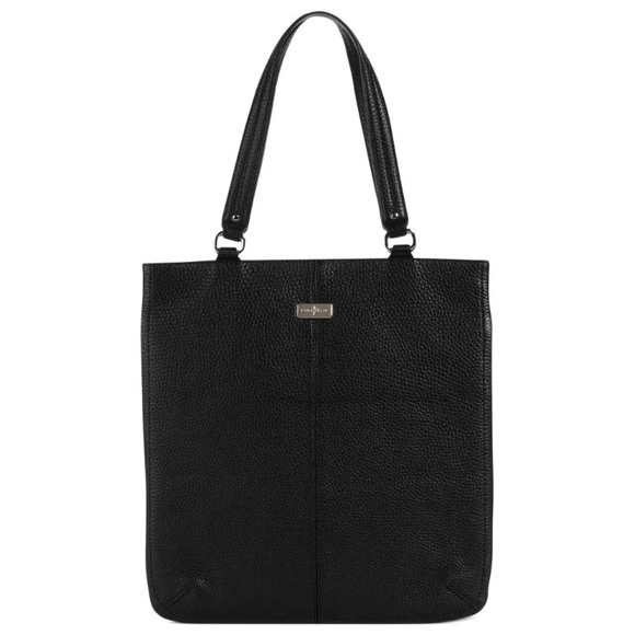 07cb5b06ac Cole Haan Handbags - Cole Hann Black village pebble leather flat tote