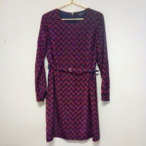 Long Sleeve Sheath Office Dress sz M