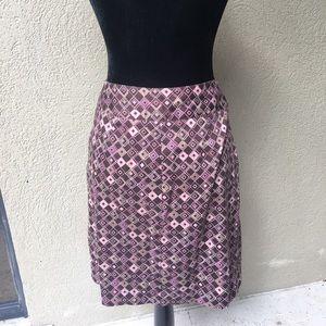 🆕Bandolino Stretch geometric print skirt