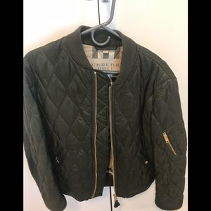 Men's Burberry quilted bomber jacket
