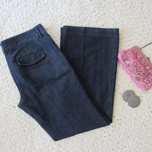 Express Editor Trouser Jeans Size 10R Stretch Blue