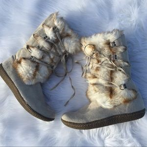 ❄️NWOT Wanted Brand Fur Boots By Macy's❄️8.5