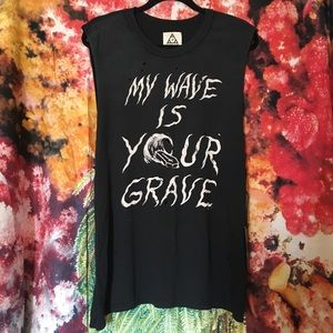 UNIF My Wave Is Your Grave Muscle Tee