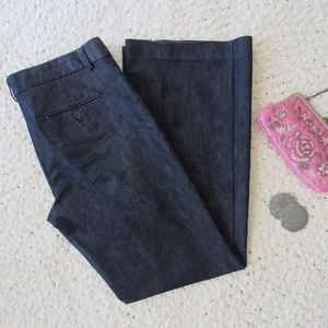 Express Editor Trouser Jeans Size 10 Blue Stretch