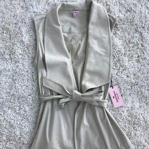 Juicy Couture Suede Cream Sleeveless Vest