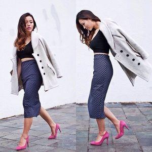 Zara Polka Dot Midi Skirt