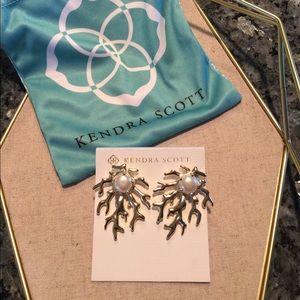 Kendra Scott Hattie Earrings.  Gold in color.