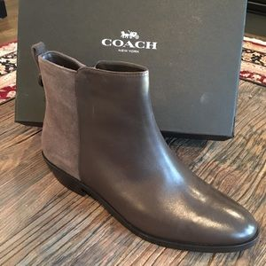 New With Box Coach Leather Boots