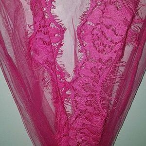 Other - Sheer lace trimmed robe