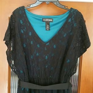 LANE BRYANT SHORT SLEEVE DRESS