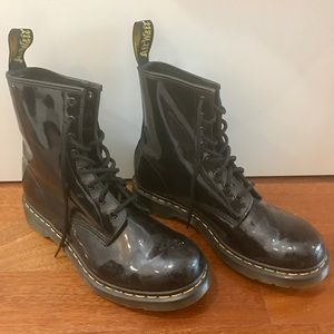 Black Dr. Martens AirWair Patent Leather Boots