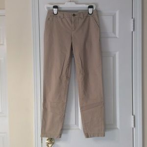 Gap broken in straight khakis