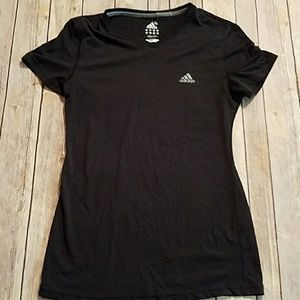 Black v neck Adidas climalite t shirt