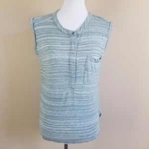 Madewell Striated Sleeveless High Low Muscle Tank