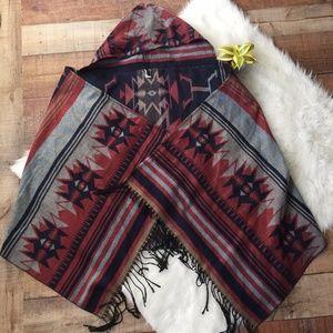 NWOT Apt. 9 Tribal Wrap with Hood