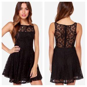 BB Dakota black lace skater dress! NWOT