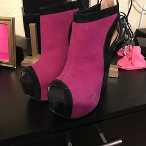 Purple & Black Heels
