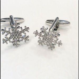 Snowflake holiday Cuff Links Unisex trendy fashion