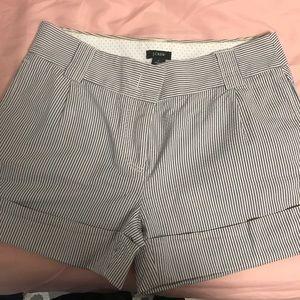 J. Crew Striped Seersucker Shorts