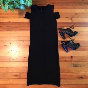 TOP SHOP BLACK COLD SHOULDER DRESS!!!🌻