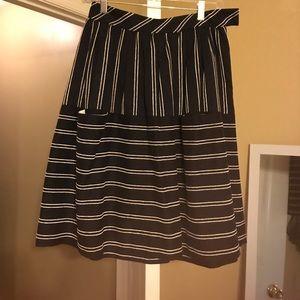 Anthropologie Maeve nubby stripes skirt 0