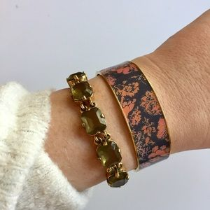 J. Crew • Abstract Floral Bangle