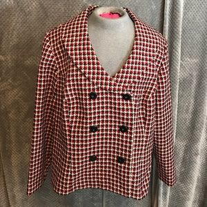 Sag Harbor double breasted blazer. Red white black