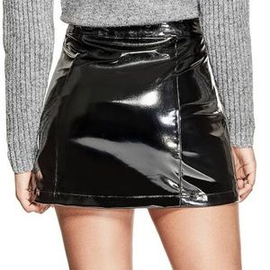 Guess Skirts - Guess Dylan Faux Patent Leather Mini Skirt