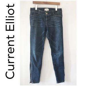 The Current Elliot Ankle Zip Cigarette Jean