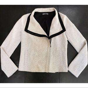 VINCE Women's textured blazer jacket off white