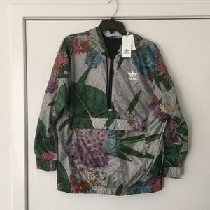 New adidas train FL half zip jacket size S
