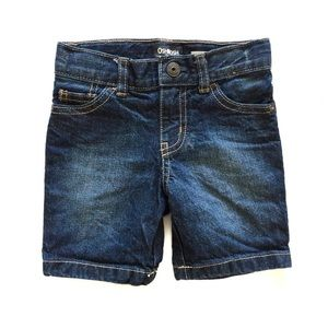 Oshkosh blue straight jean denim shorts 2T
