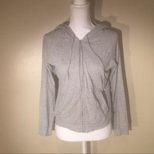 Grey gap zip up hoodie