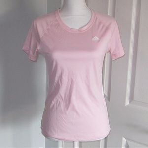 New!  Adidas pink short sleeved top size Small