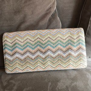 Used, Cole Haas Missoni-patterned clutch for sale