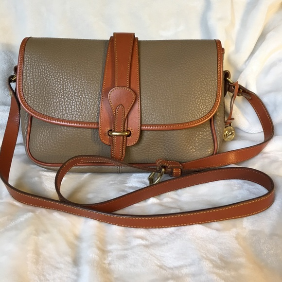 18e115ce800e Dooney   Bourke Handbags - Dooney   Bourke taupe tan equestrian leather bag