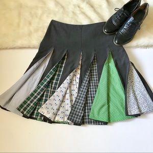 Anthropologie Elevenses Skirt pattern box pleats
