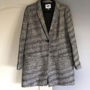 Old Navy Black and White Tweed Jacket