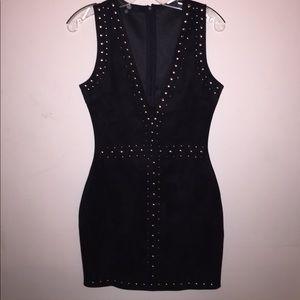 Black Silver Embellished Missguided Dress